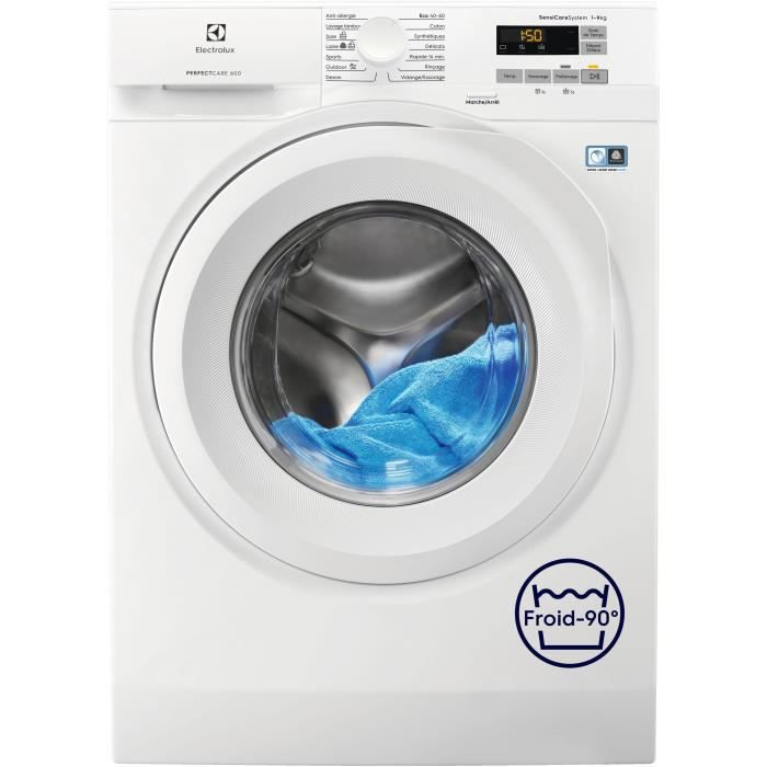 ELECTROLUX EW6F5933ED lave-linge frontal PerfectCare 600 - 9kg - 1200 tr/min - Classe A+++ -20% - Mo