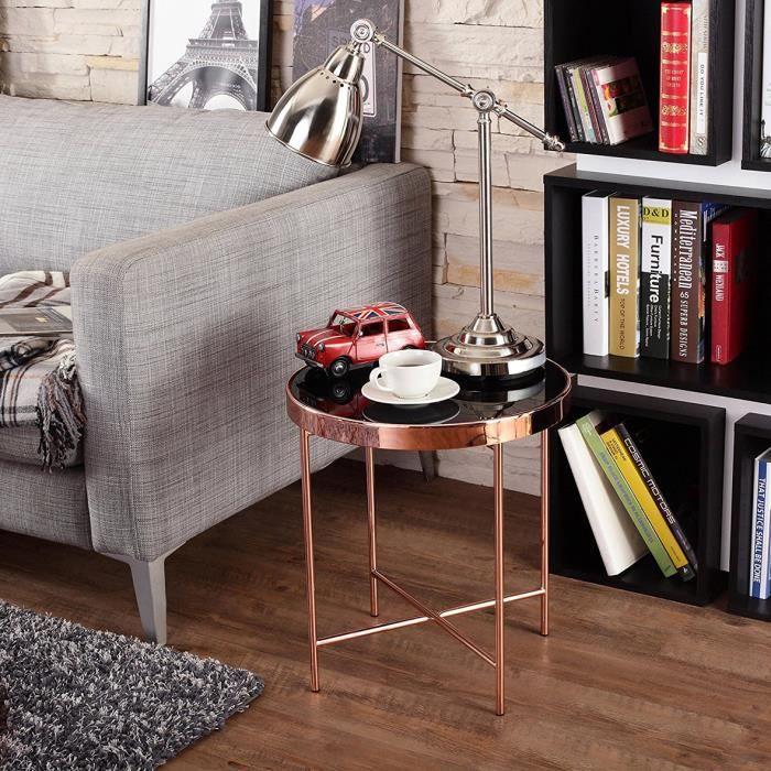 Table basse table dextrémité en verre avec un look