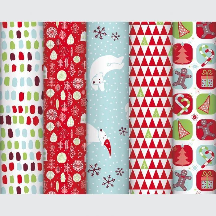 Papier Cadeaux Fantaisie Noël Enfant 80gm² 5x070m Achat