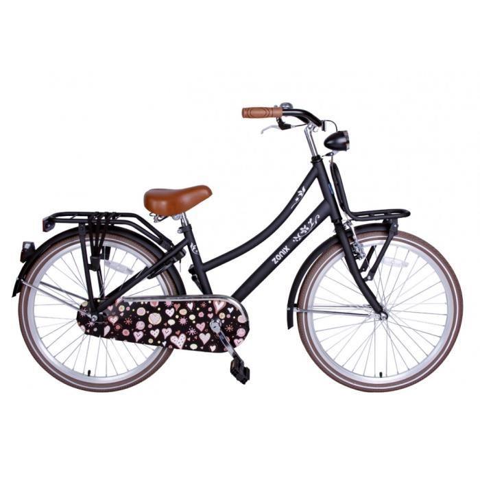 146bdc772a0d37 Vélo Fille Zonix Oma 24 Pouces Frein à Rétropédalage Mat Noir 85% Assemblé