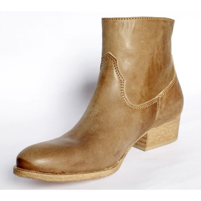GOLDEMUD BOTTINES BOOTS CUIR CHAUSSURES T 39 NEUVES