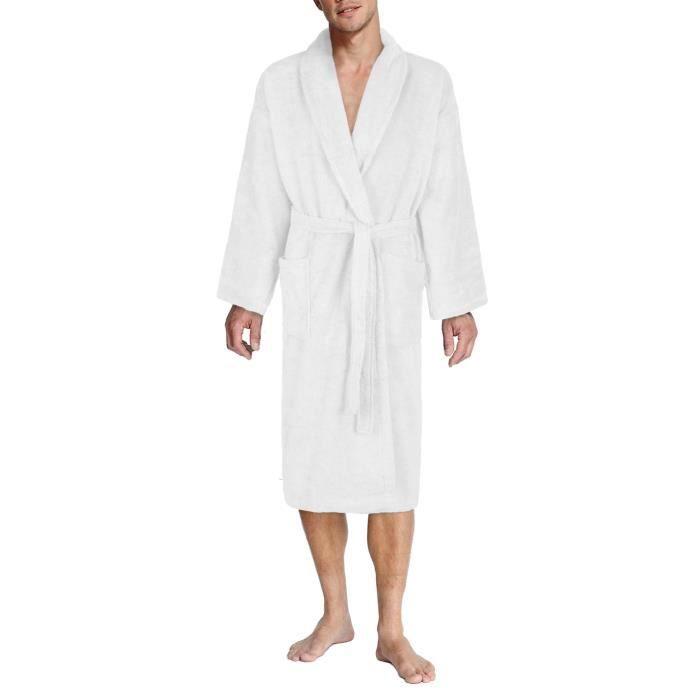 26e81277568e9 John Christian - Peignoir homme éponge Blanc 100% coton - Achat ...