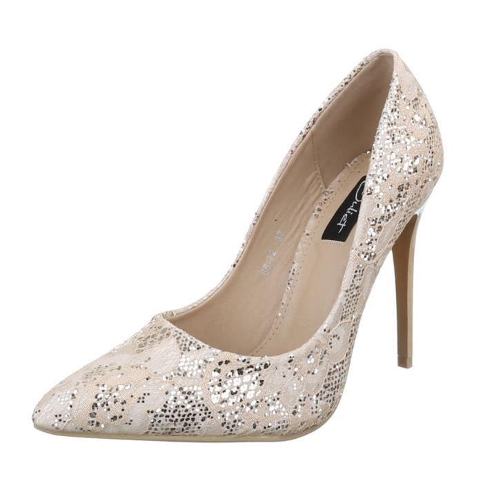femme chaussure escarpin talons aiguilles Beige