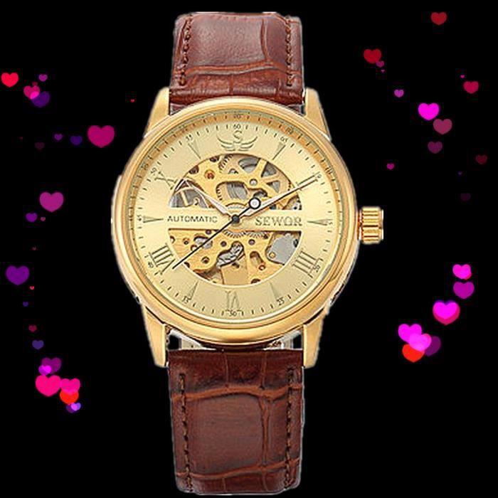 Montre Classique Pour Homme, Horloge Automatique Automatique Automatique  Avec BoîTe Cadeau Originale 54b69fadf6a