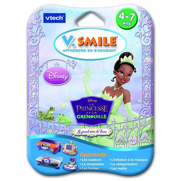 JEU CONSOLE ÉDUCATIVE Jeu V.smile La Princesse et la grenouille