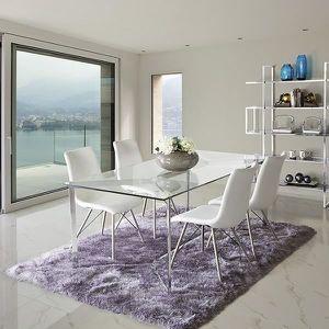 table manger seule table de salle manger verre tremp 190 x 90 x