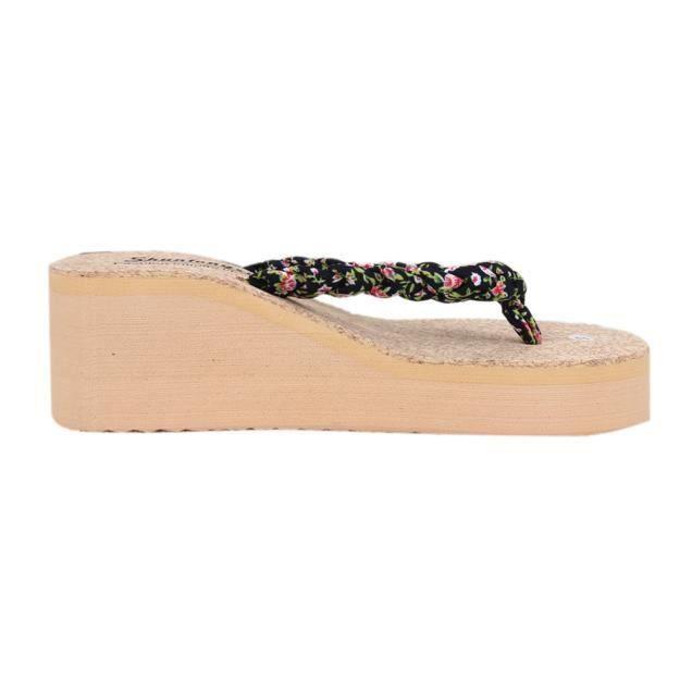 Flip t Vert Clip Floral Toe Flops Bohme De Chaussures Doux Plage Sandales 8kn0wOPX