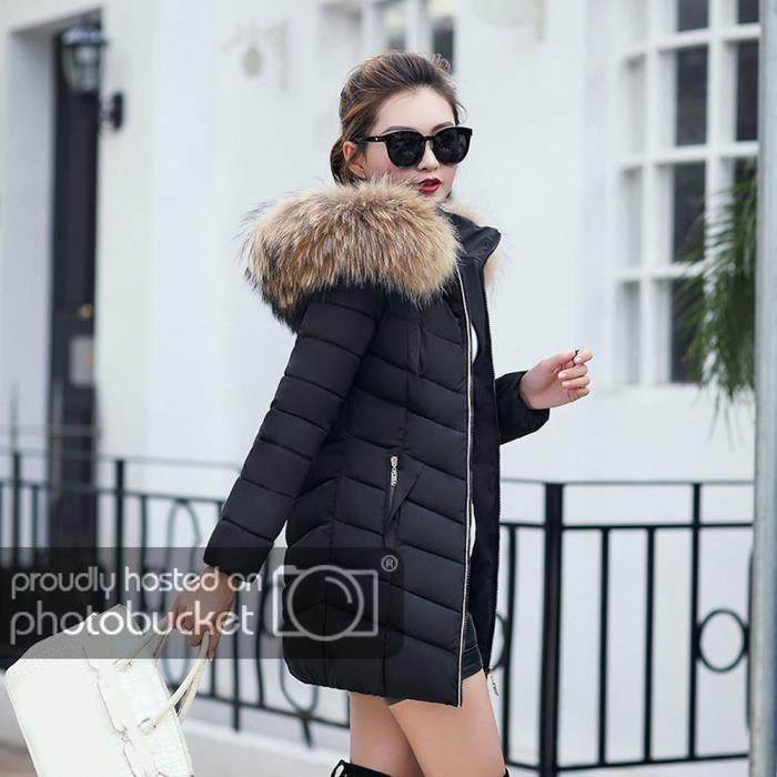 Épaisse Longue Manteau Mode Funmoon Femmes Hiver Mince Pardessus Veste 4Xqwxp1p
