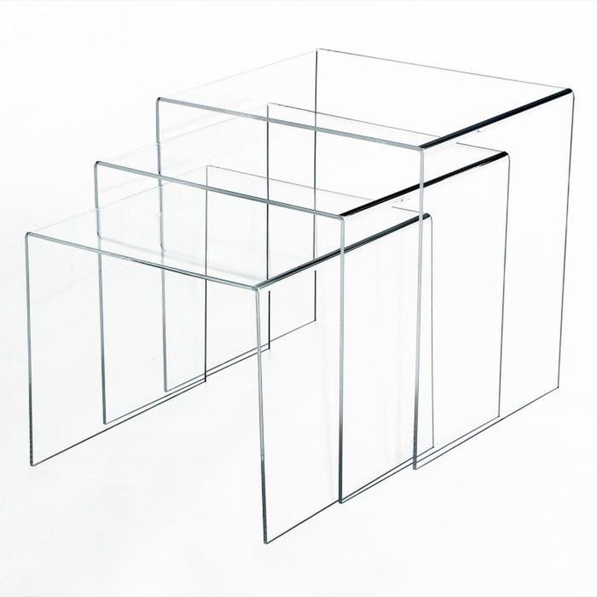 table de salon transparente achat vente pas cher. Black Bedroom Furniture Sets. Home Design Ideas