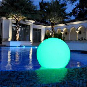 LAMPE DE JARDIN  30cm Sphère LED Lumineuse Flottante IP67, Lampe Ro