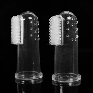 BROSSE - CARDE Super Soft Pet doigt Brosse à dents brosse pour ch