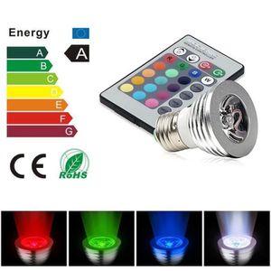 AMPOULE - LED Ampoule Spot LED RGB E27 3W + Télécommande