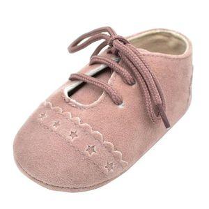 BOTTE Bébé Chaussures Enfant Baskets Anti-dérapant Semelle Souple Chaussures à Lacets@GrisHM aRJNl2