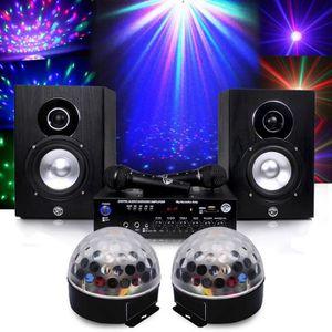 JEUX DE LUMIERE Pack karaoké complet 150W + Boules Astro LED RVB