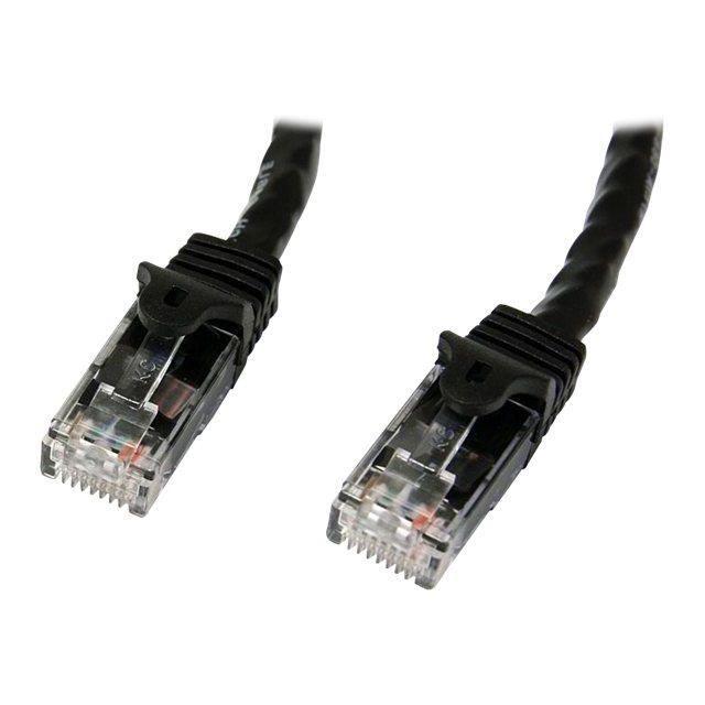 STARTECH Câble réseau Cat6 Gigabit UTP - Sans crochet - 10 m - Cordon Ethernet RJ45 anti-accroc - Câble patch Mâle / Mâle - Noir