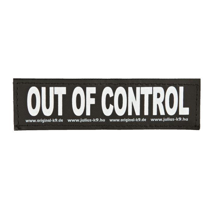 TRIXIE 2 Stickers Velcro Julius-K9 - L - Out of control - Pour chien