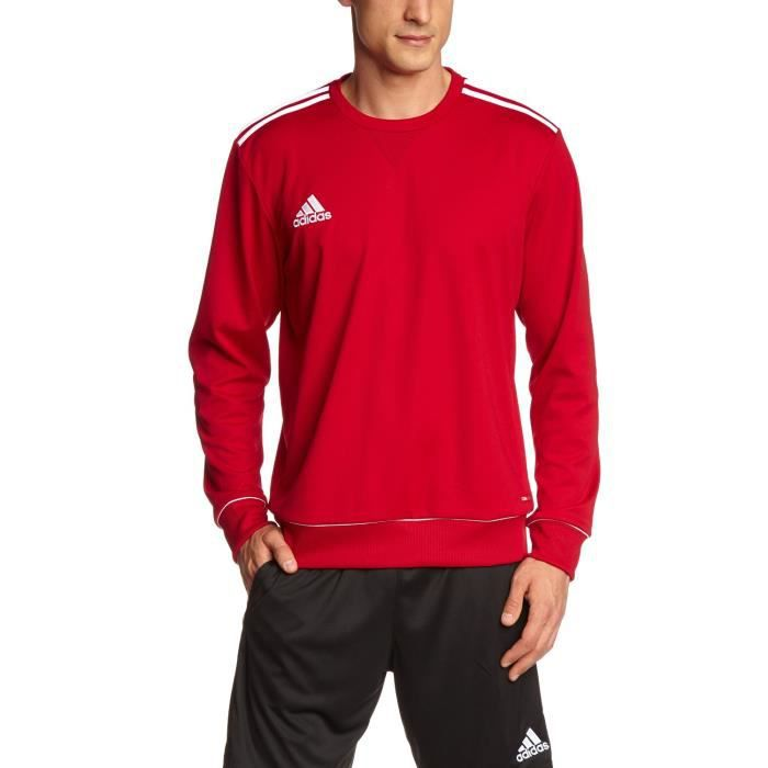 sweat rouge adidas homme