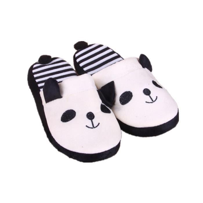 Cartoon Panda Home Rideau doux au sol Pantoufles Femme Chaussures blanc F0bHr
