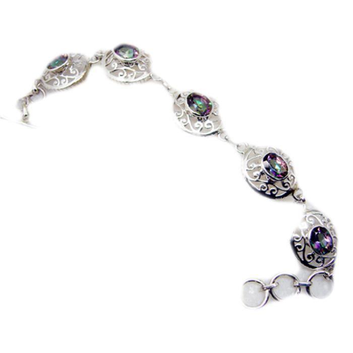 Mystic Quartz Bracelet - Bracelet Argent - Multi Bracelet - Bracelet multi Argent