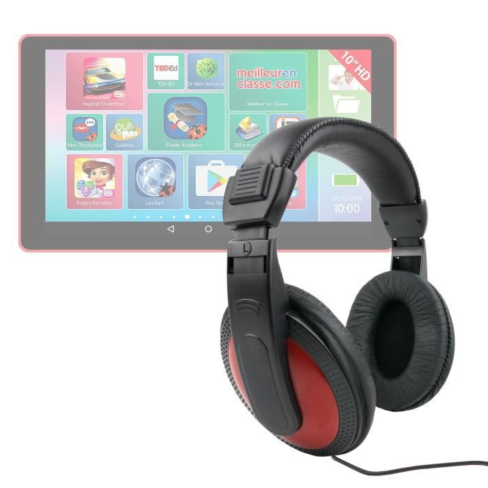 """Casque Audio Léger & Confortable Pour Lexibook Lexitab Mfc146fr 7"""" Et Mfc511fr 10"""" Tablette Enfant - Duragadget"""