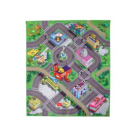 Majorette Tapis De Jeu Down Town 70x80 Cm Voiture Panneaux