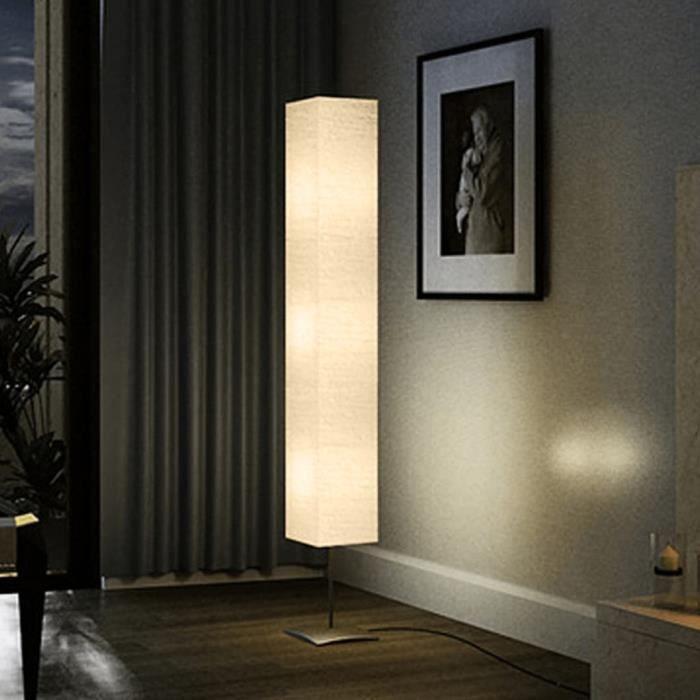 Lampe de salon sur pied alu 170 cm achat vente lampe for Lampe de terrasse sur pied