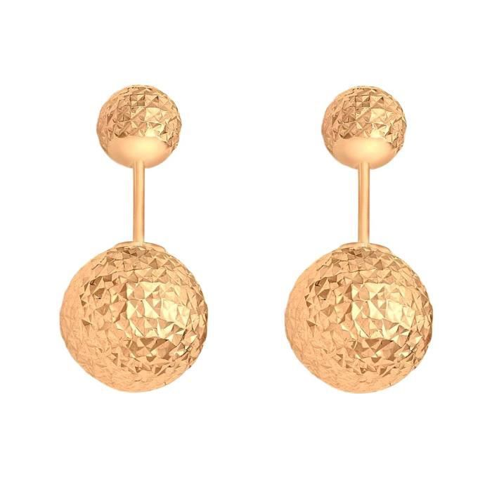 Carissima 9 Ct Or Blanc And Diamond Cut Ball Frock Earrings VBY85