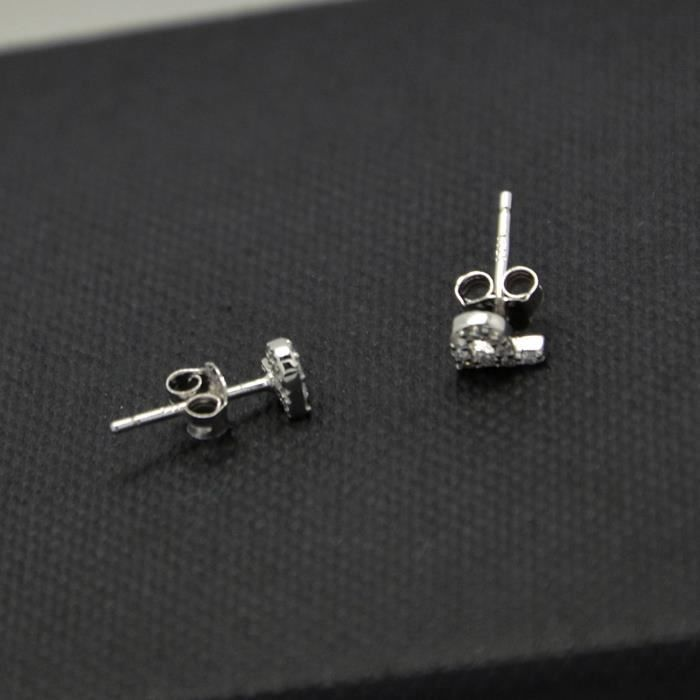 Trendtwo Boucles doreilles Stud initiales minuscules argent sterling pour femme AMC72
