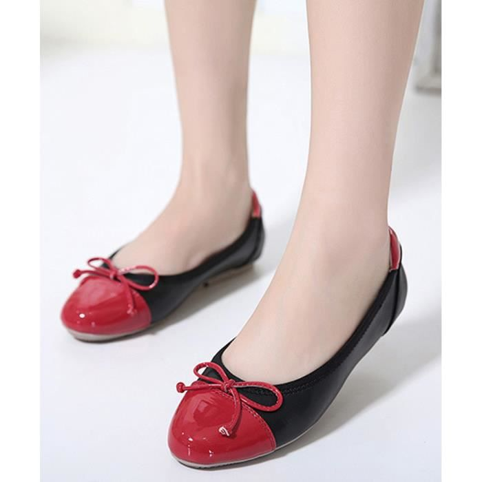 Tomwell Confortable Chaussures Femme Bowknot Ballerines Tête Ronde Couleur Mixte Plat Chaussons zelzuIaXoD
