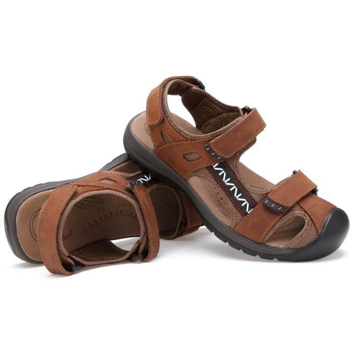 Hommes–sandales Cuir Pêcheur Été– 0EMWSXaIQd