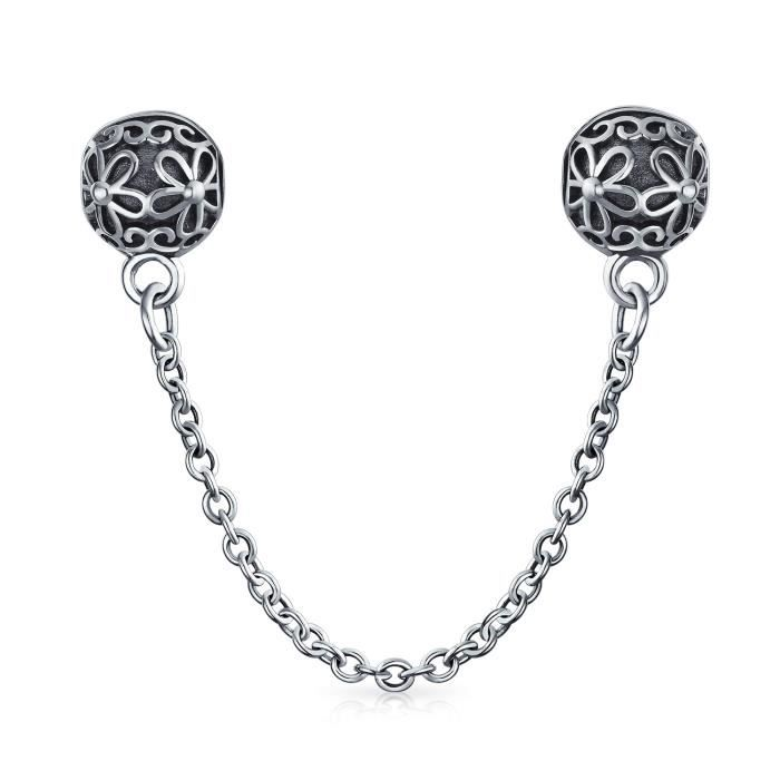 Bling Jewelry Bouchon Daisy Double cordon Argent 925 Charme