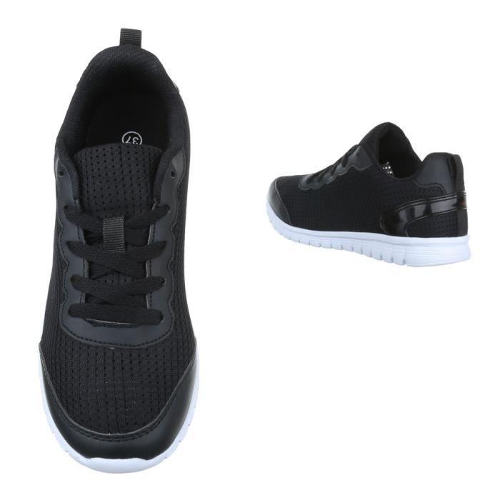 femme chaussures décontractées chaussure coureur chaussure de sportBaskets noir