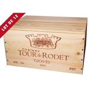 COFFRET CADEAU VIN 12X La Caisse Bois 6x75cl estampillé Château Tour