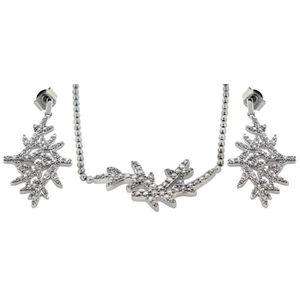 PARURE Tuscany Silver - Parure collier et boucles d'oreil