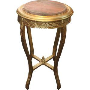 TABLE D'APPOINT Table d'Appoint Baroque Or Doré L. 40 cm x H. 68 c