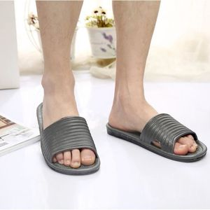 CHAUSSON - PANTOUFLE Homme Stripe plat de bain chaussons Sandales d'été