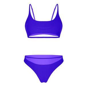07a920c4ea5096 Maillot de bain femme 2 pieces brassiere - Achat / Vente pas cher