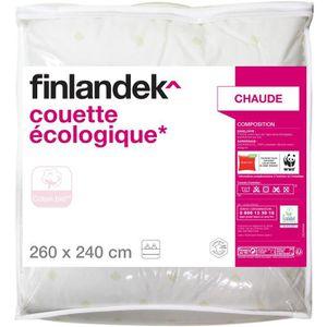 COUETTE FINLANDEK Couette - 240 x 260 Ecologique - Blanc