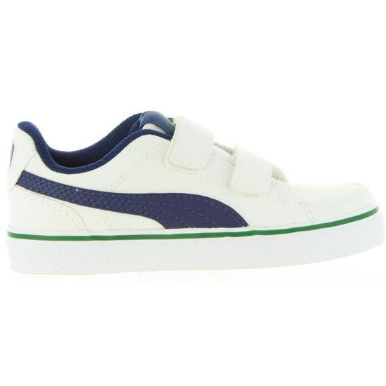 Chaussures de sport pour  et  PUMA 362948 COURT 08 Blanc Blanc - Achat / Vente chaussures multisport