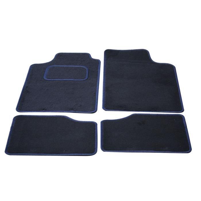 TEXTILE AUTO CONFORT Lot de 4 tapis city - noir / bleu - taille unique