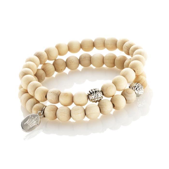 Kit bracelet Perles Forest - Kit complet pour créer un bracelet de 21 cm - Contient : perles en boisKIT BIJOUX