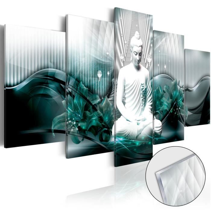 PARAVENT Tableau sur verre acrylique  |  Azure Meditation [