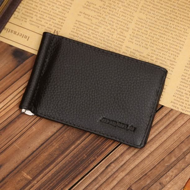 Cuir Huo397 De Argent Ultra Co Carte Id Clip Bifold Holder Crédit Homme Wallet Slim Pour aqawUxESf
