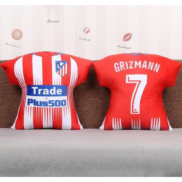 pretty nice 34f7f 77486 1PC 45CM Oreiller lombaire Antoine Griezmann Atlético Madrid Football Club  Coussin Football Coussin Jersey