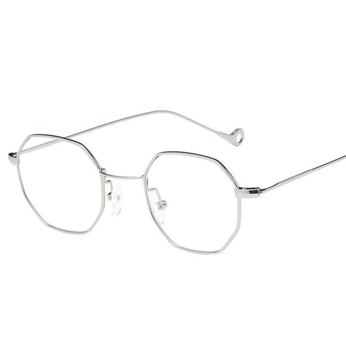 irrégularités soleil métal hommes cadre de mode monture Femmes argent  marque lunettes Classic de Plaine T6tqx0nW ... f6431c3580ee
