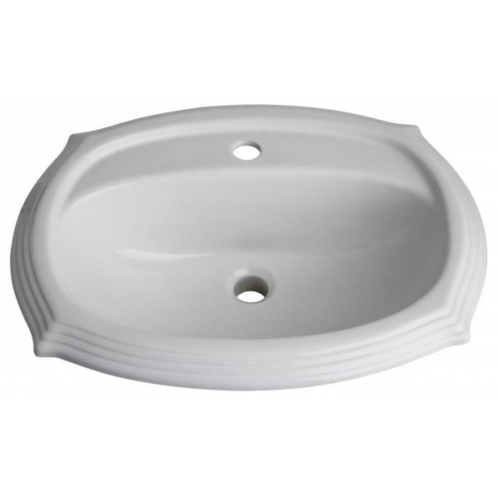 vasque encastrer r tro blanche achat vente lavabo vasque 112001 vasque encastrer. Black Bedroom Furniture Sets. Home Design Ideas