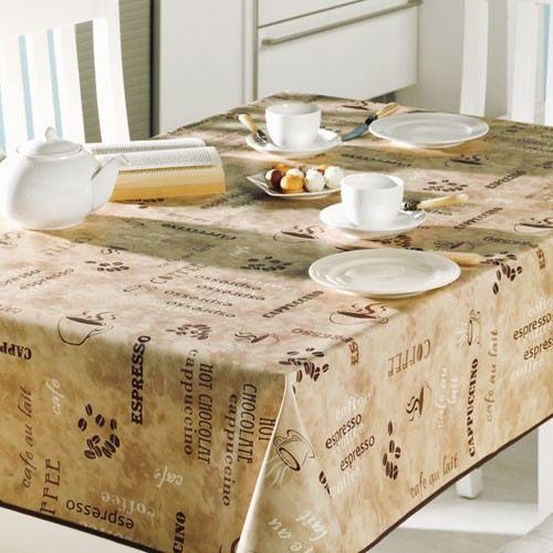 nappe ronde match d 160 cm caf achat vente nappe de table soldes d s le 10 janvier. Black Bedroom Furniture Sets. Home Design Ideas