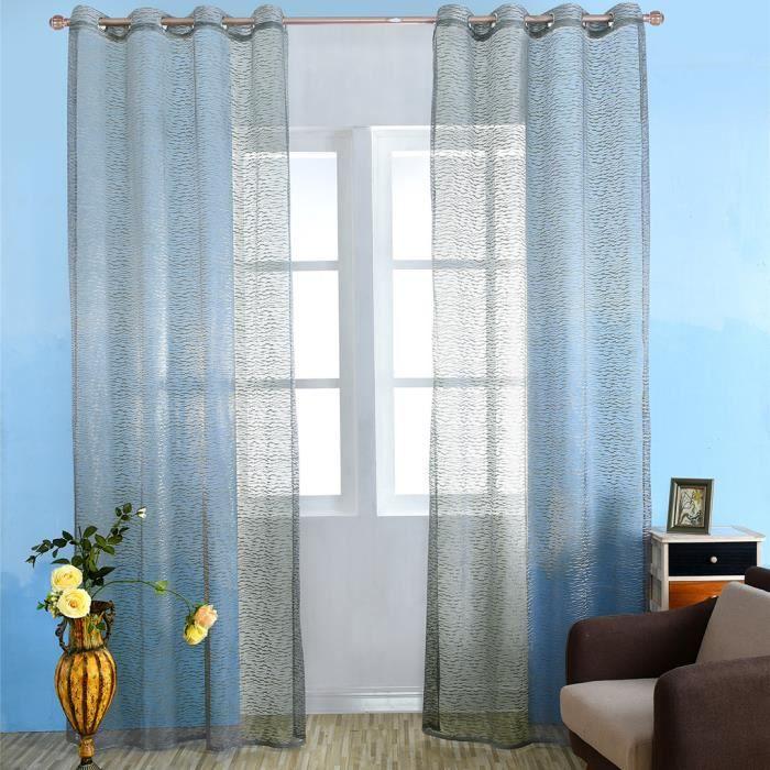 Rideaux brodés Rideaux de fenêtre Panneaux de rideaux transparents ...