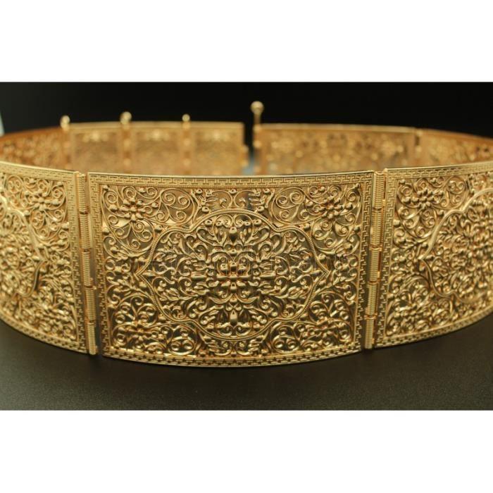 CHAINE DE TAILLE - CHAINE D EPAULE Bijou oriental ceinture arabesque en plaqué  or 207becf1ca9