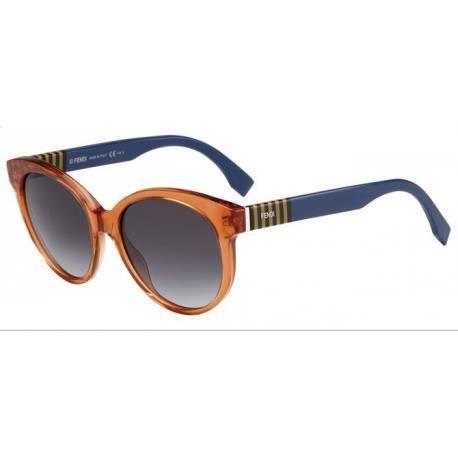 65fa0064e9e875 Achetez Lunettes de soleil Fendi Femme FF 0013 S 7TC (9O) bleue orange